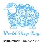 world sleep day. international... | Shutterstock . vector #1027645414