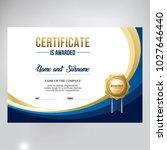 certificate design  stylish... | Shutterstock .eps vector #1027646440