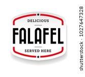 falafel arabic cuisine label... | Shutterstock .eps vector #1027647328