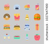 icons about food with cupcake ... | Shutterstock .eps vector #1027647400