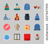 icons about winter with sweater ...   Shutterstock .eps vector #1027647454