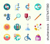 icons about medical with loupe  ... | Shutterstock .eps vector #1027647580