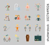 icons about human with hug ... | Shutterstock .eps vector #1027649026