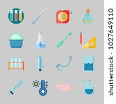 icons about laboratory with... | Shutterstock .eps vector #1027649110