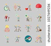 icons about human with disable  ... | Shutterstock .eps vector #1027649236
