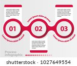 3 steps vector process... | Shutterstock .eps vector #1027649554