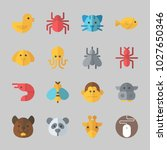 icons about animals with dog ... | Shutterstock .eps vector #1027650346