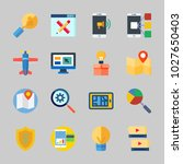icons about seo with speech... | Shutterstock .eps vector #1027650403
