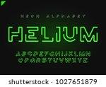 helium vector futuristic linear ... | Shutterstock .eps vector #1027651879