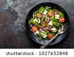 plate of nutritious simple... | Shutterstock . vector #1027652848