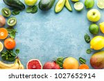 top view of different selected... | Shutterstock . vector #1027652914