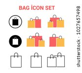 shopping bag vector icon set | Shutterstock .eps vector #1027657498