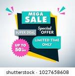 sale banner design | Shutterstock .eps vector #1027658608