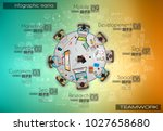 infograph background template... | Shutterstock .eps vector #1027658680