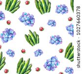 watercolor floral background....   Shutterstock . vector #1027660378