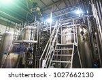 stainless steel brewing... | Shutterstock . vector #1027662130