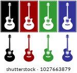 acoustic guitar set vector...   Shutterstock .eps vector #1027663879
