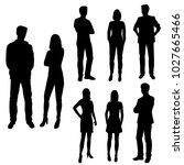set of business people  vector... | Shutterstock .eps vector #1027665466