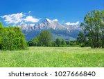 hill krivan  2494m  symbol of...   Shutterstock . vector #1027666840
