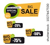 big sale horizontal banner set. | Shutterstock .eps vector #1027667530