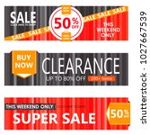 set of sale banners design. | Shutterstock .eps vector #1027667539