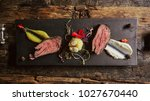 sliced roast beef. | Shutterstock . vector #1027670440