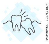 wisdom teeth thin line icon ...   Shutterstock .eps vector #1027671874