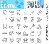 dental line icon set ... | Shutterstock .eps vector #1027672414