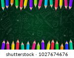 concept of a school background... | Shutterstock .eps vector #1027674676