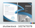 abstract modern flyers brochure ... | Shutterstock .eps vector #1027675378