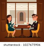 two colleagues friends having... | Shutterstock .eps vector #1027675906