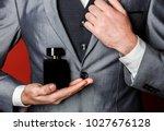 fragrance smell. male fragrance ... | Shutterstock . vector #1027676128