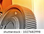 part of an industrial cogwheel  ... | Shutterstock . vector #1027682998
