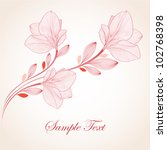 hand drawing floral background... | Shutterstock .eps vector #102768398