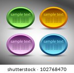 oval sticker | Shutterstock .eps vector #102768470
