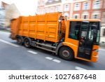 garbage collection truck...   Shutterstock . vector #1027687648