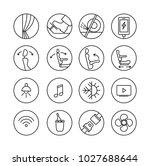 pictogram for touristic bus....   Shutterstock .eps vector #1027688644