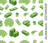 money pattern with us dollar... | Shutterstock .eps vector #1027690333