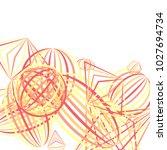 falling geometric figures.... | Shutterstock .eps vector #1027694734