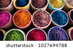 colorfull spices in round... | Shutterstock . vector #1027694788