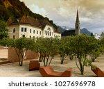 vaduz  liechtenstein. old... | Shutterstock . vector #1027696978