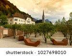 vaduz  liechtenstein. old... | Shutterstock . vector #1027698010