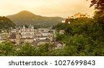 salzburg cityscape  austria | Shutterstock . vector #1027699843