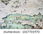 old metallic texture with paint | Shutterstock . vector #1027701970