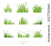 grass icon. silhouette of green ... | Shutterstock .eps vector #1027702069