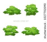 cartoon bush illustration.... | Shutterstock .eps vector #1027702090