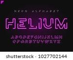 helium vector futuristic linear ... | Shutterstock .eps vector #1027702144