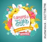 easter greeting cute design...   Shutterstock .eps vector #1027708798