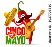 cinco de mayo design with... | Shutterstock .eps vector #1027708810