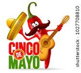 cinco de mayo design with... | Shutterstock .eps vector #1027708810